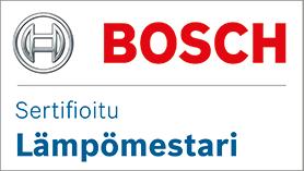 Teknikomi Oy on sertifioitu Bosch Lämpömestari